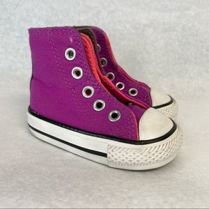 Converse baby high top pink purple Shoes